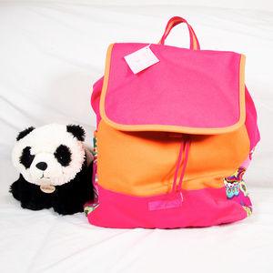 Brand new orange, pink Vera Bradley backpack
